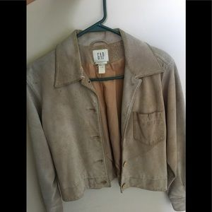 GAP Swede tan jacket size Small